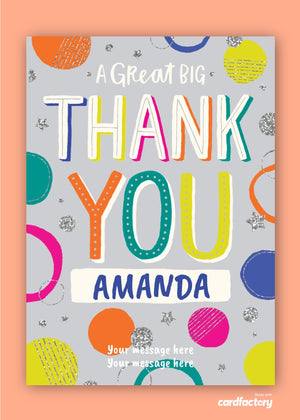 Great Big Thank You Digital Card