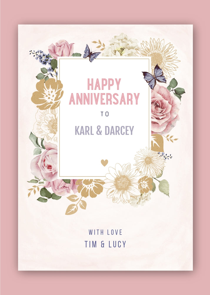 Flowers Anniversary Digital Card