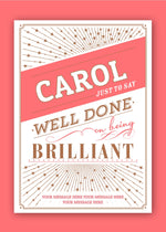 Brilliant Congratulations Digital Card