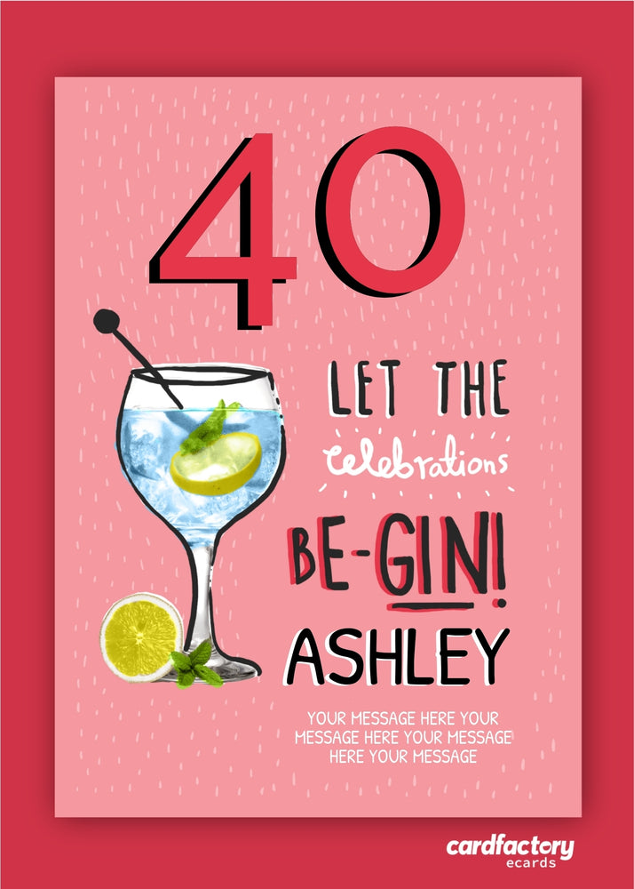 Load image into Gallery viewer, Be Gin Birthday Digital Card