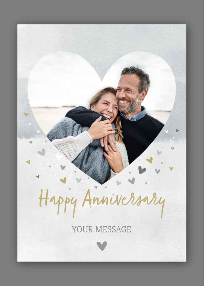 Heart Anniversary Photo Digital Card