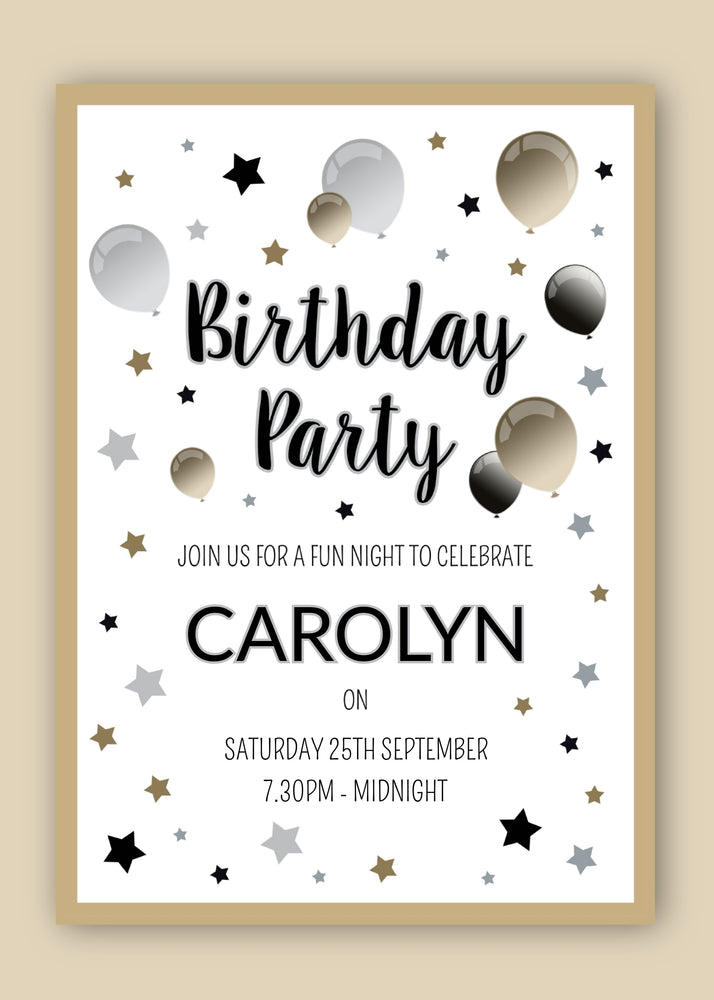 Birthday Party Digital Invitation
