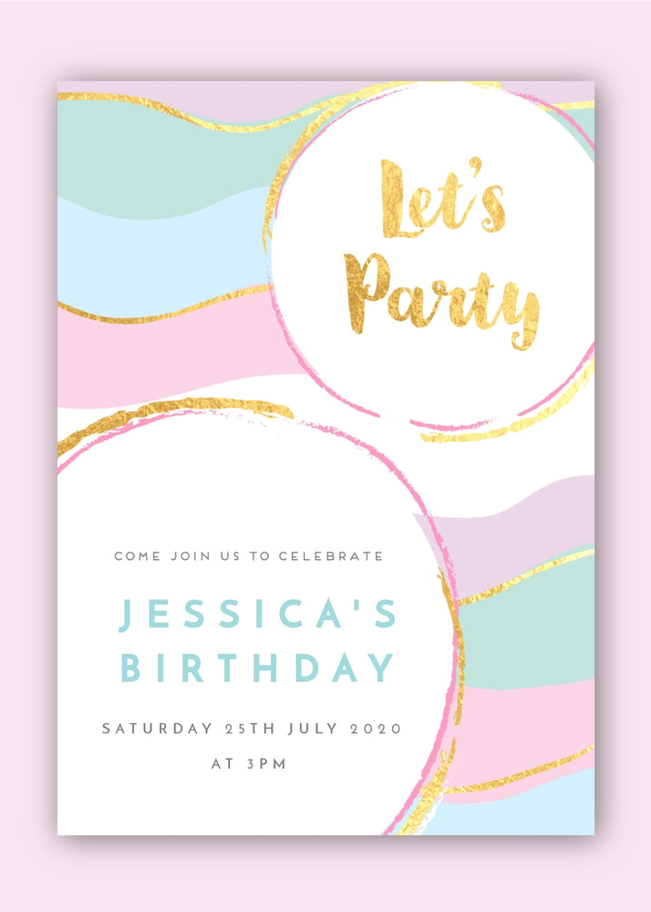 Let's Party Digital Invitation