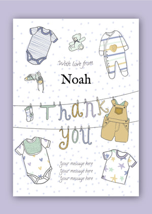 Baby Boy Thank You Digital Card