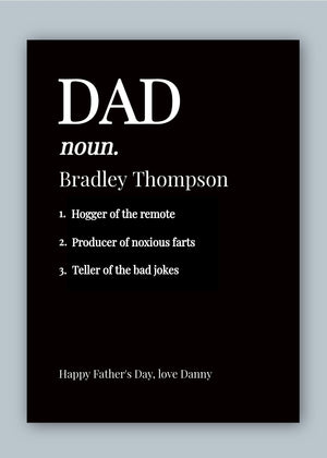 Dad Noun Digital Card