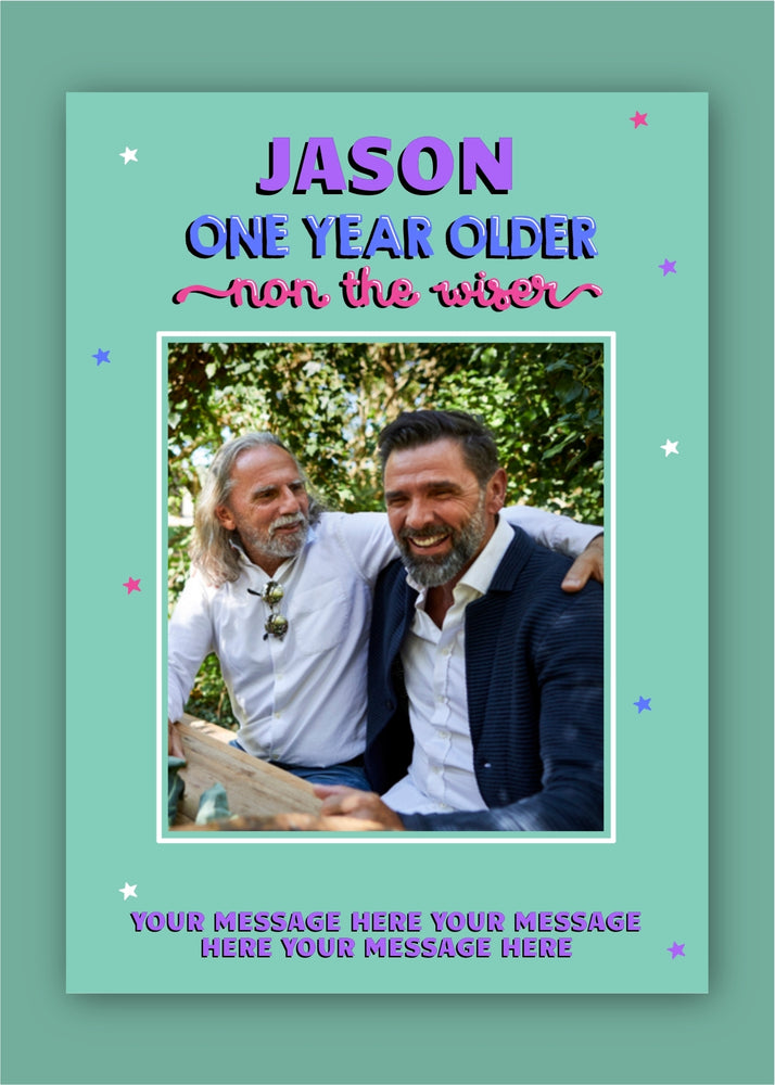 Non The Wiser Birthday Digital Card