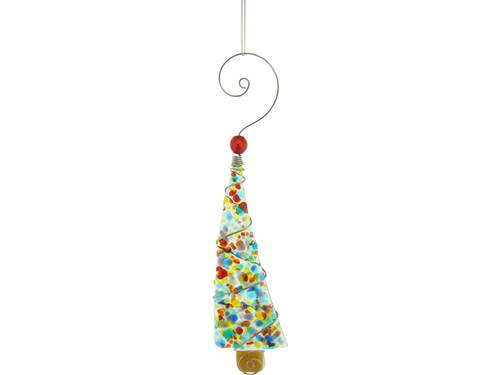 Crushed Glass Christmas Tree Ornament