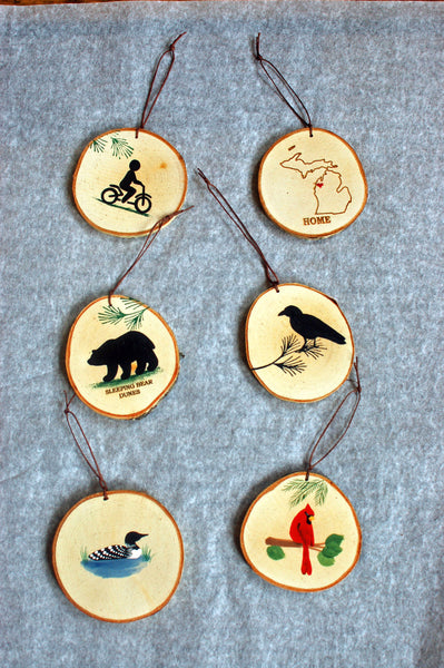 Birch Ornaments