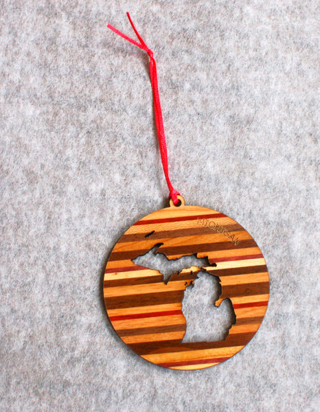 Michigan Multiwood Ornament