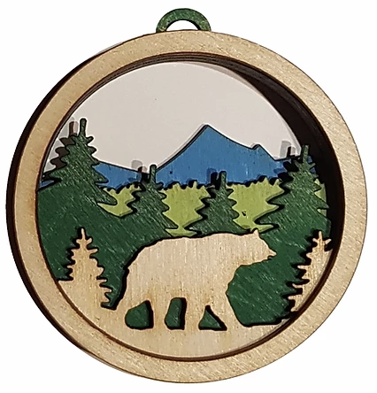 Bear Ornament, wood