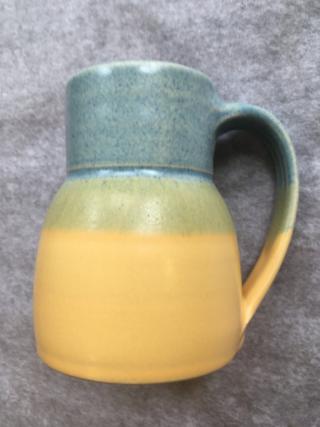 Two-Tone Pottery Mugs