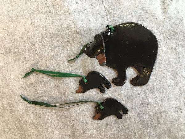 Bear and Cubs Ornament Set