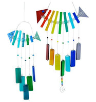 Fused Glass Fish Chime