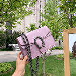 Lucile Horseshoe Bag In Dusty Purple