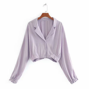 Amira Flowing Shirt In Purple