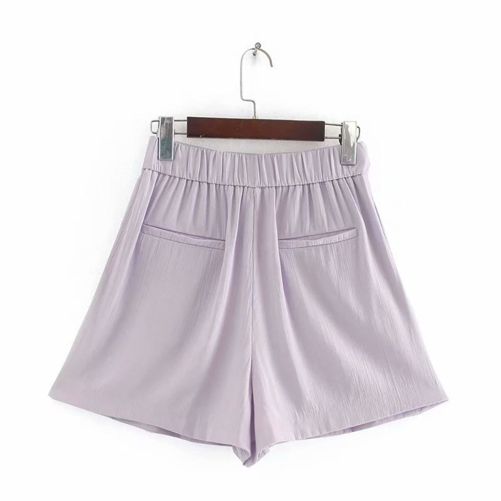 Amira Flowing Shorts In Purple