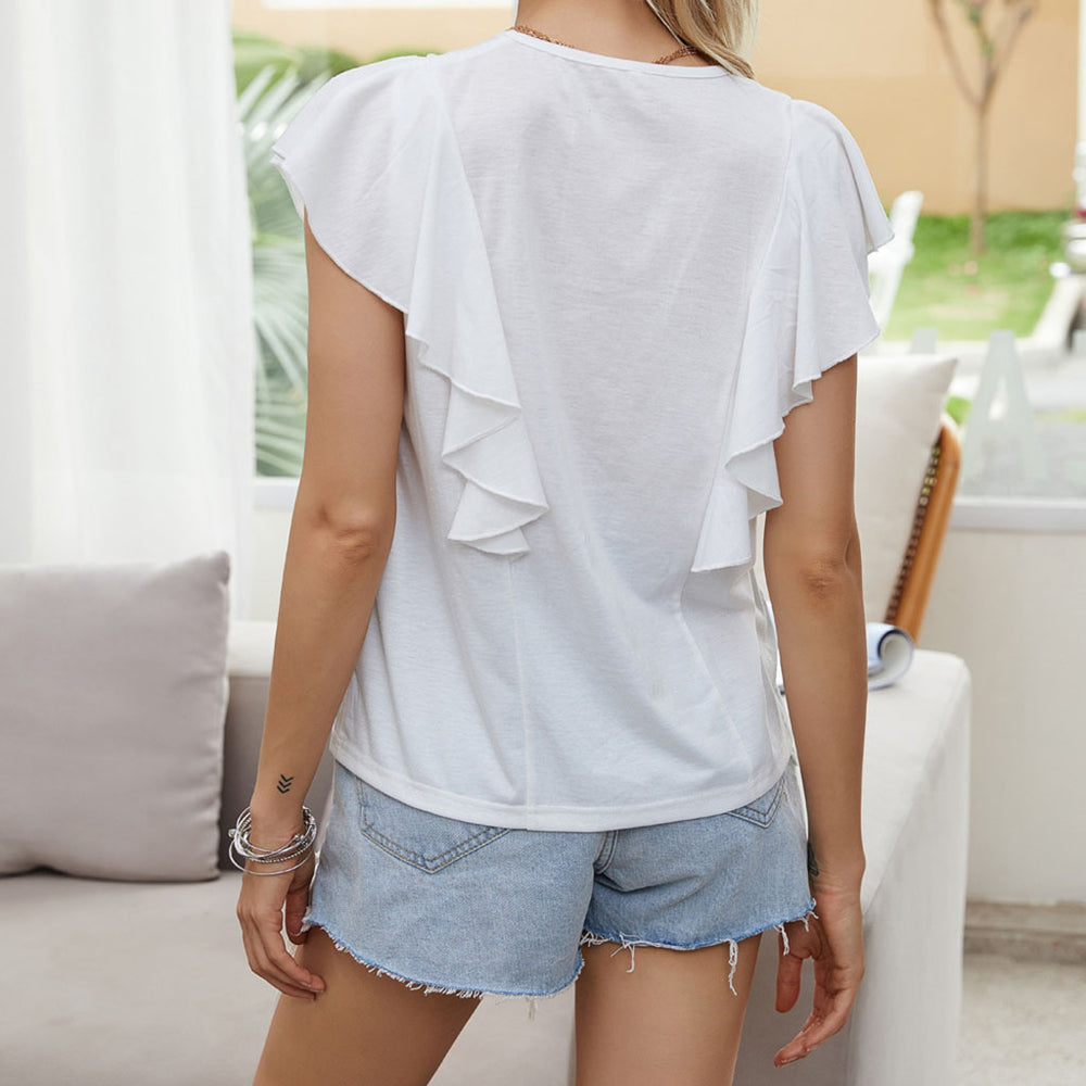 Emilia Frill T-Shirt In White