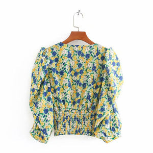 Nadia Floral Puff Sleeve Top
