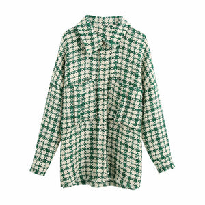 Giselle Checked Shirt In Green