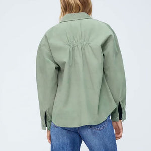 Parker Corduroy Over Shirt in Green