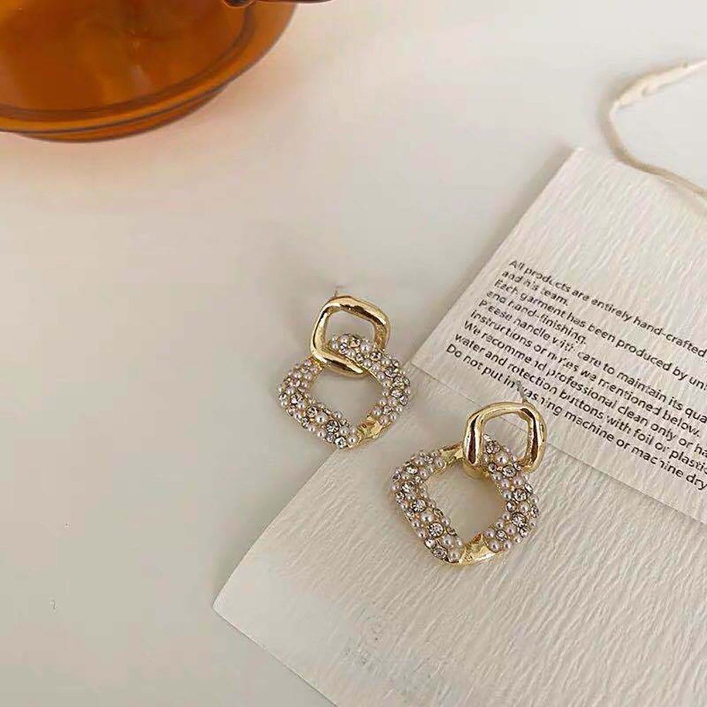 Talia Diamond Drop Earrings In Gold