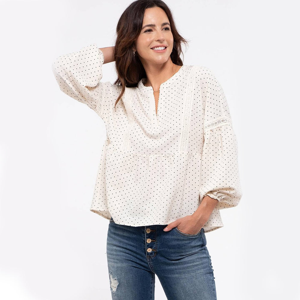 Bailey Dot Print Woven Top