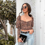 Lucy Leopard Print Crop Top In Brown King Street Boutique