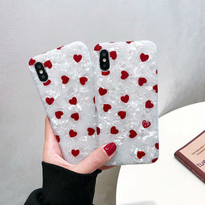 Love Heart Phone Case In Red