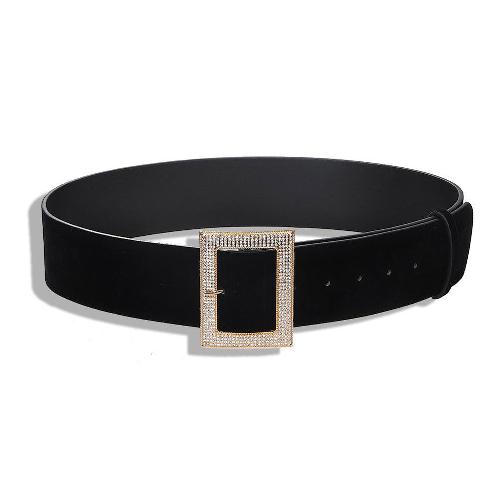 Klara Diamante Wide Buckle Belt