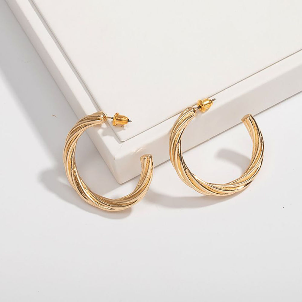 Clara Hoops In Gold