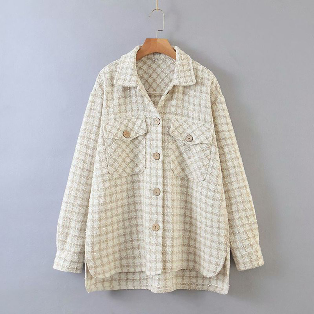 Callie Over Shirt In Beige