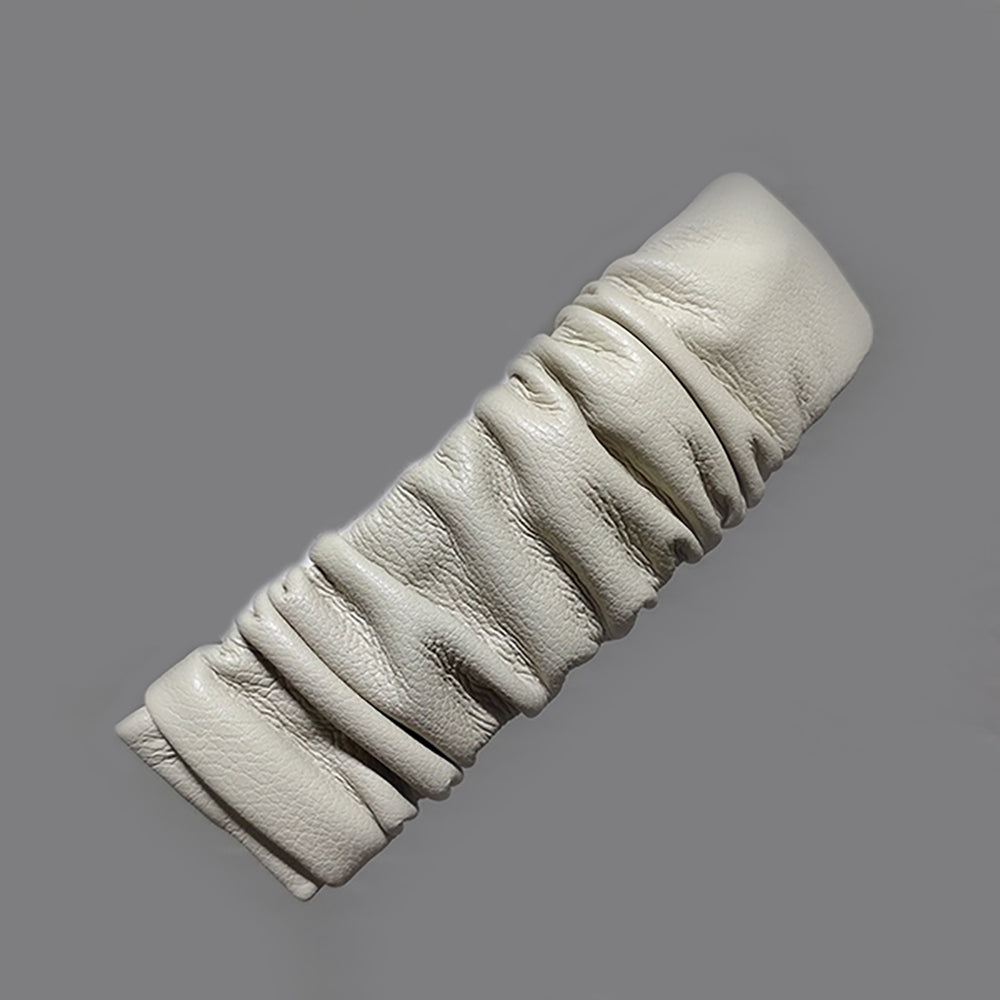 Kali Faux Leather Hair Clip In Cream
