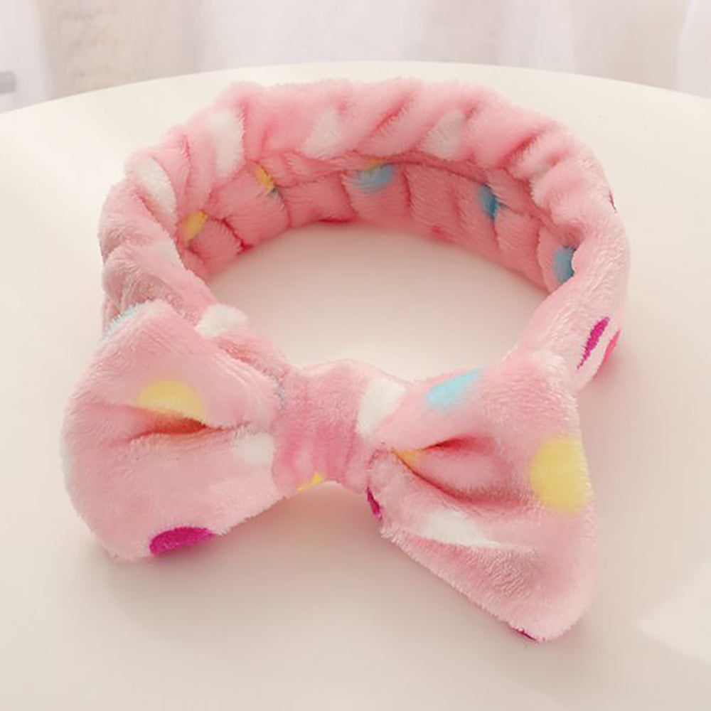 Peggy Make-Up Headband In Pink Spots