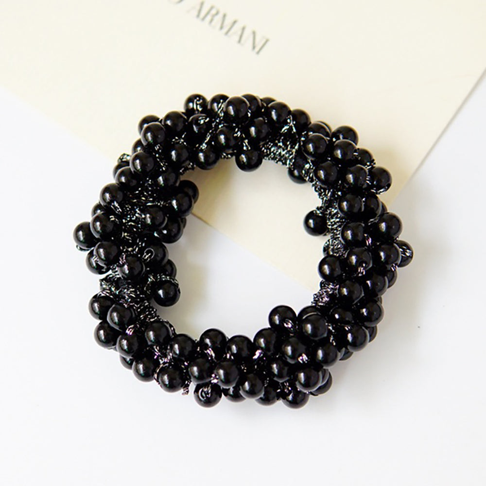 Orin Pearl Scrunchie In Black