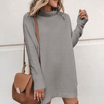 Taylor Jumper Dress In Grey