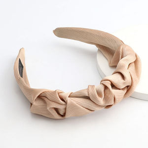 Sienna Ruffle Headband In Sand