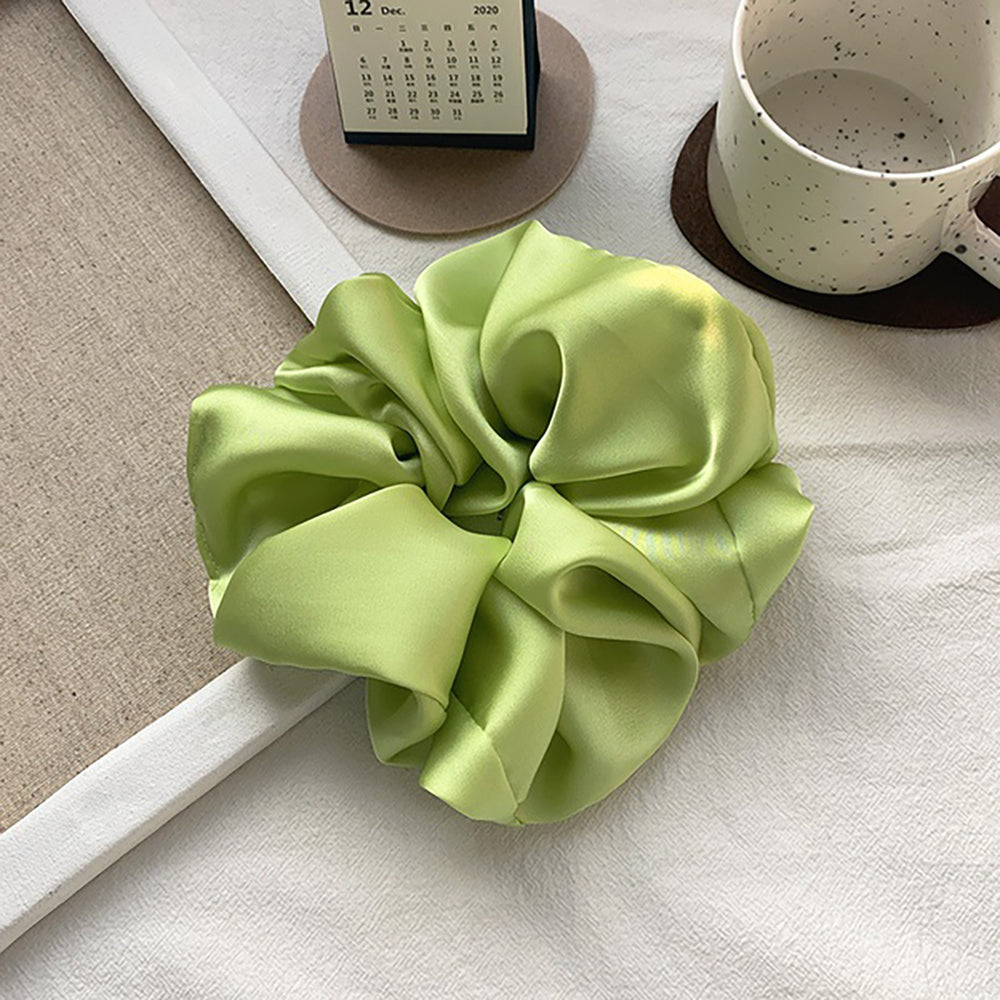 Alexa Large Scrunchie In Lime Green