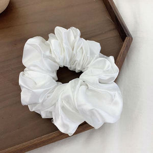 Athena Large Scrunchie In White