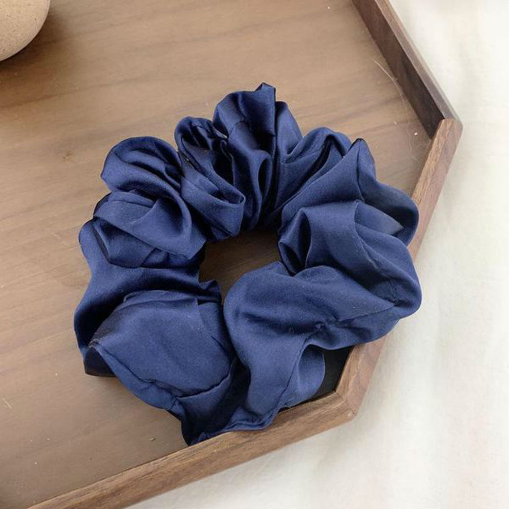 Athena Large Scrunchie In Sapphire Blue