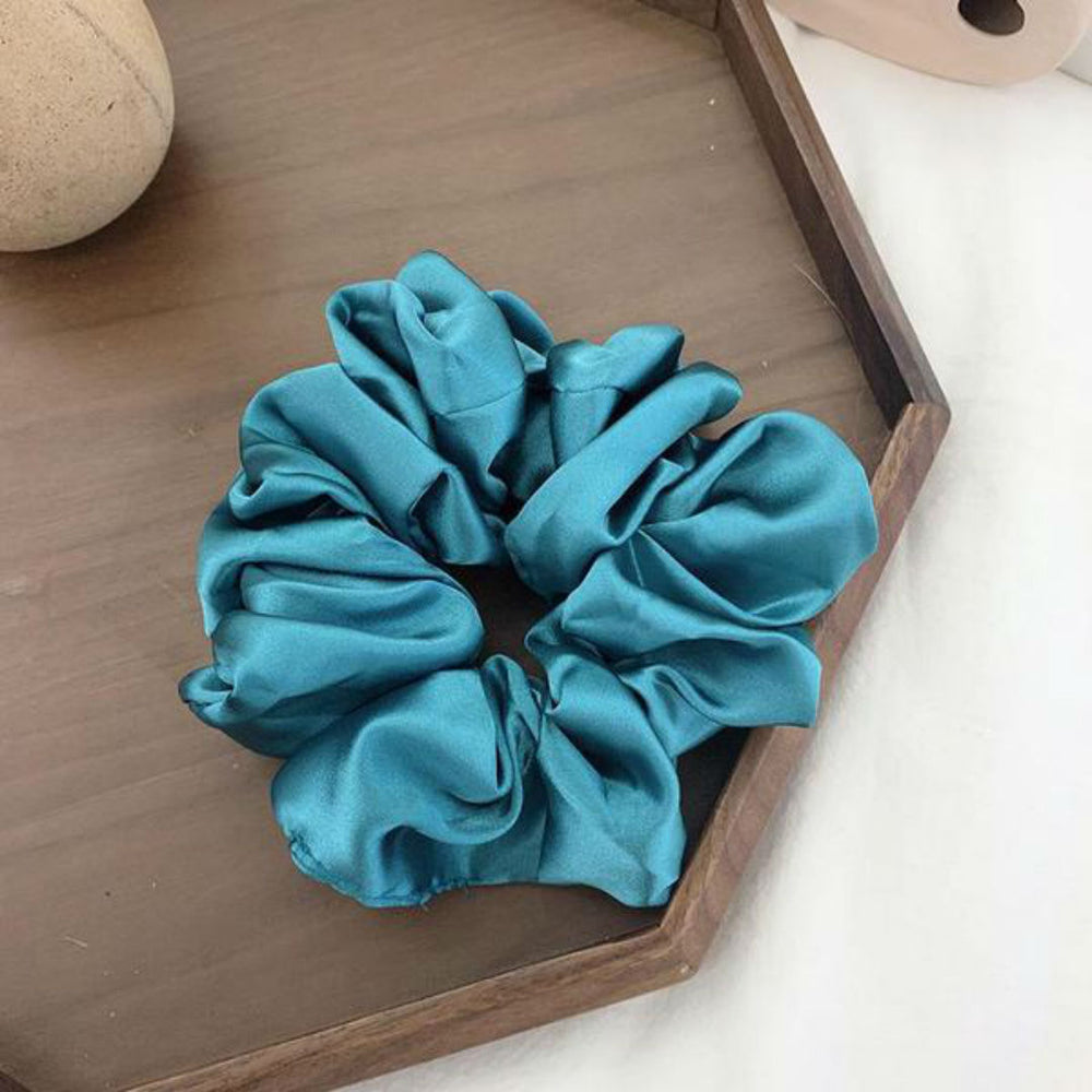 Athena Large Scrunchie In Lake Blue