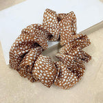 Adisa Pattern Scrunchie In Tan