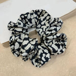 Adisa Pattern Scrunchie In White Leopard
