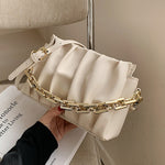 Meg Ruffle Bag In Cream