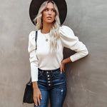 Eleanor Puff Sleeve Jumper In White