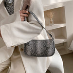 Kylie Snake Print Bag In Grey