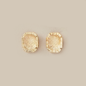 Thea Stud Earrings In Gold