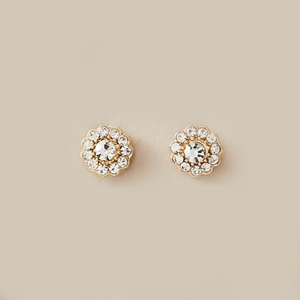 Thea Stud Earrings In Crystal Flower