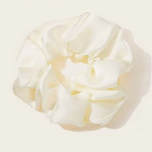 Lola Satin Scrunchie In Cream