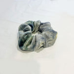 Nova Tie Dye Velvet Scrunchie In Grey