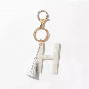 Tasseled Initial Key Chain